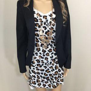 Townsen Silk Front Leopard Print Dress